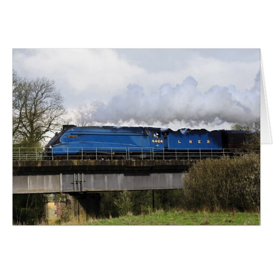 """Bittern"" Old Steam Train Locomotive Greeting Card"
