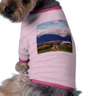 Bitterroot Mountains Parents Farm Dog T Shirt