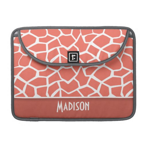 Bittersweet Color Giraffe Print; Personalized Sleeves For MacBook Pro