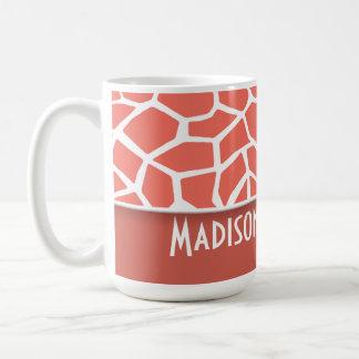 Bittersweet Color Giraffe Print; Personalized Mugs