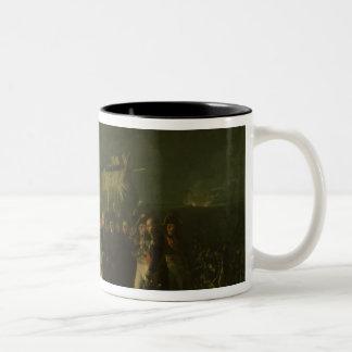 Bivouac of Napoleon I on Battlefield Battle Two-Tone Coffee Mug