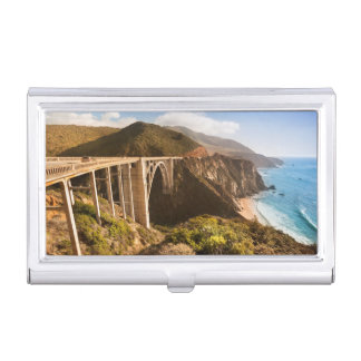 Bixby Bridge, Big Sur, California, USA Business Card Holder