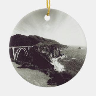 Bixby Bridge, Big Sur, California USA Christmas Ornament