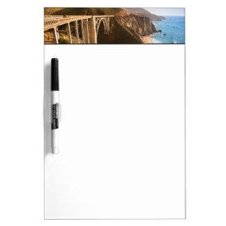 Bixby Bridge, Big Sur, California, USA Dry Erase Board