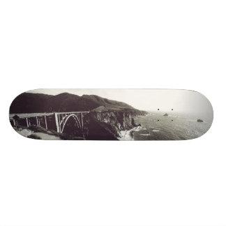 Bixby Bridge, Big Sur, California USA Skate Board