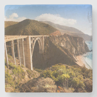 Bixby Bridge, Big Sur, California, USA Stone Beverage Coaster