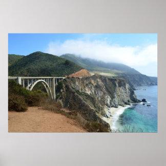 Bixby Bridge on California s Big Sur coast Posters