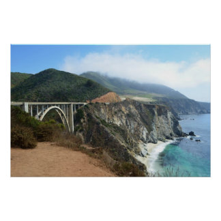 Bixby Bridge on California's Big Sur coast Poster