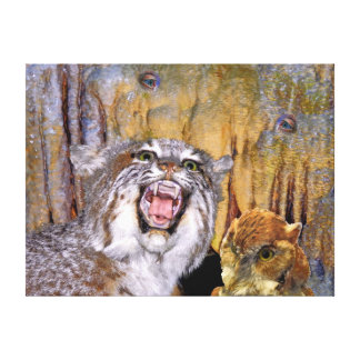 Bizarre 2 Cave-Eyes and Lion Kid s Fantasy Stretched Canvas Prints