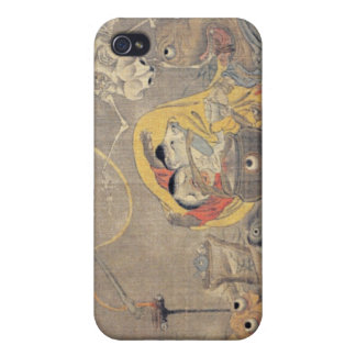 Bizarre Ancient Japanese Painting of Demons Case For iPhone 4