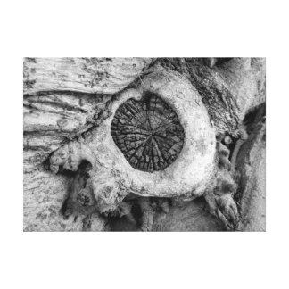 Bizarre tree abstract round shape canvas print