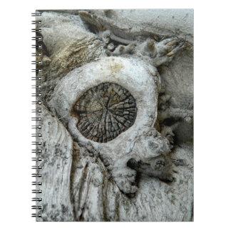 Bizarre tree abstract round shape notebooks