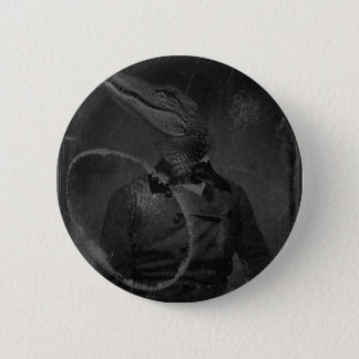 Bizarre Vintage Image Caiman 6 Cm Round Badge