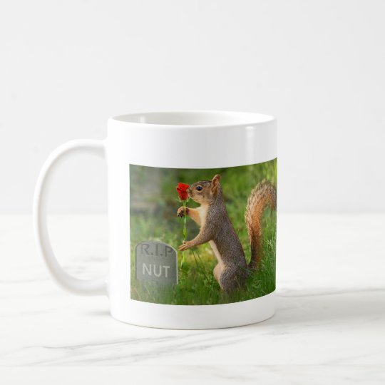 BizzareWorld Mourning Squirrel Coffee Mug