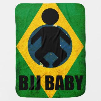 BJJ Baby Blanket- Brazilian Jiu Jitsu Flag Design Baby Blanket