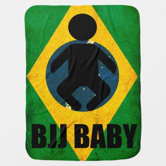 BJJ Baby Blanket- Brazilian Jiu Jitsu Flag Design
