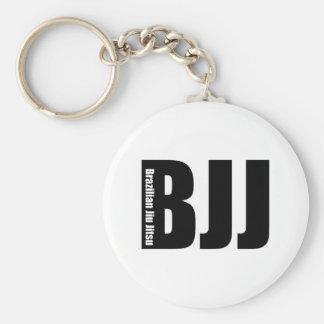BJJ - Brazilian Jiu Jitsu Basic Round Button Key Ring