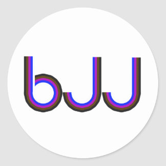 BJJ - Brazilian Jiu Jitsu - Colored Letters Sticker