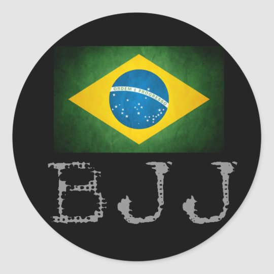 BJJ Brazilian Jiu Jitsu Flag Sticker
