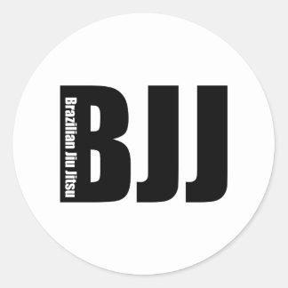 BJJ - Brazilian Jiu Jitsu Round Stickers