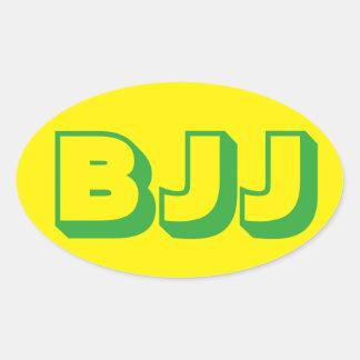 BJJ Brazilian Jiu Jitsu Sticker Oval Sticker