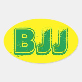 BJJ Sticker Oval Sticker