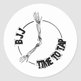 BJJ - Time to Tap Classic Round Sticker