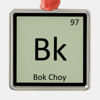 Bk - Bok Choy Vegetable Chemistry Periodic Table Christmas Ornament