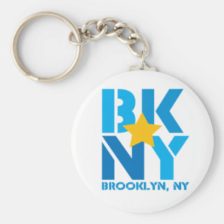 BK Brooklyn Blue Keychain