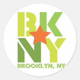 BK Brooklyn Green Sticker