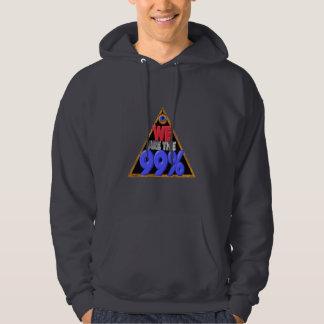Bk Hooded shirt-2side  Were 99% Occupy wall street Hoodie