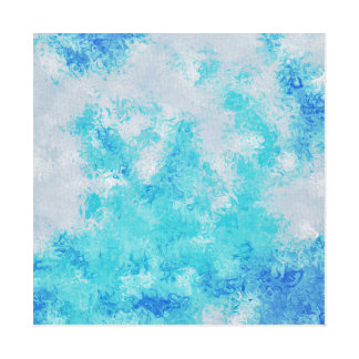 bkue stain abstract art canvas print