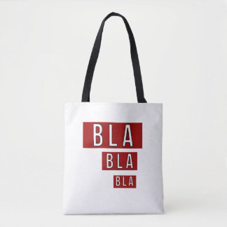 Bla Bla Bla Red Tote Bag