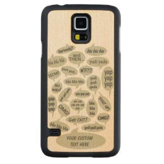 BLABBER SPEECH BUBBLES custom cases Maple Galaxy S5 Slim Case