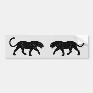 blach panther bumper sticker
