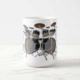 Black 10 Piece Drum Kit - Coffee Mug