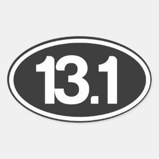 Black 13.1 Sticker (Half Marathon Sticker)