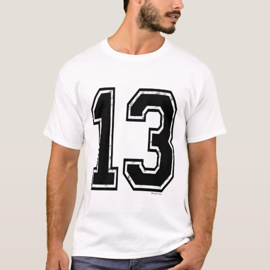 Black 13 Number T-Shirt