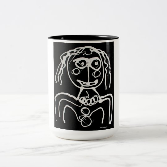 Black 15 oz Two-Tone Mug