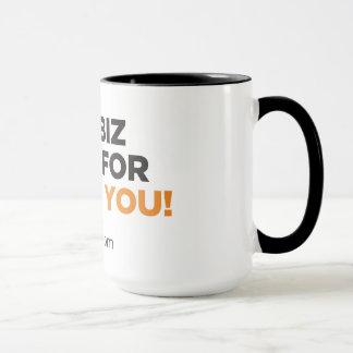 Black 15oz Ringer Mug