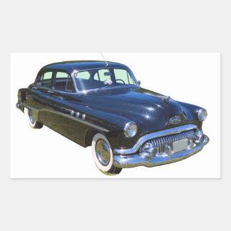 Black 1951 Buick Eight Antique Car Rectangle Sticker