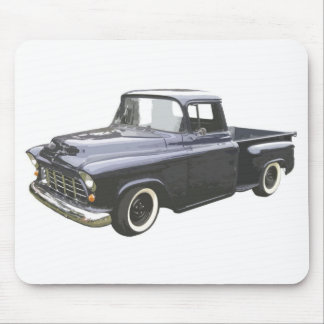 Black 1956 Chevrolet Pickup Mouse Pad