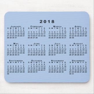 Black 2018 Calendar on Customizable Light Blue Mouse Mat