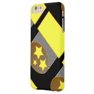 Black 3 yellow stars black background phone case