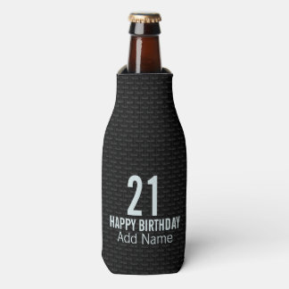 Black 3D mesh Bottle Cooler