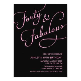 Black 40 and Fabulous Invitations