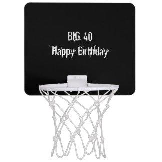 Black 40th Birthday Party Mini Basketball Hoop