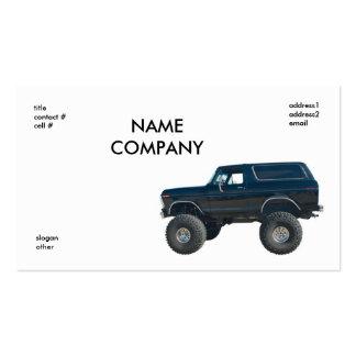 black 4x4 business card templates
