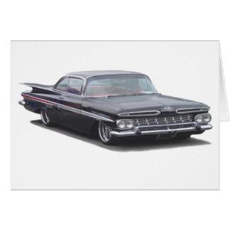 Black '59 Chevy Impala Note Card