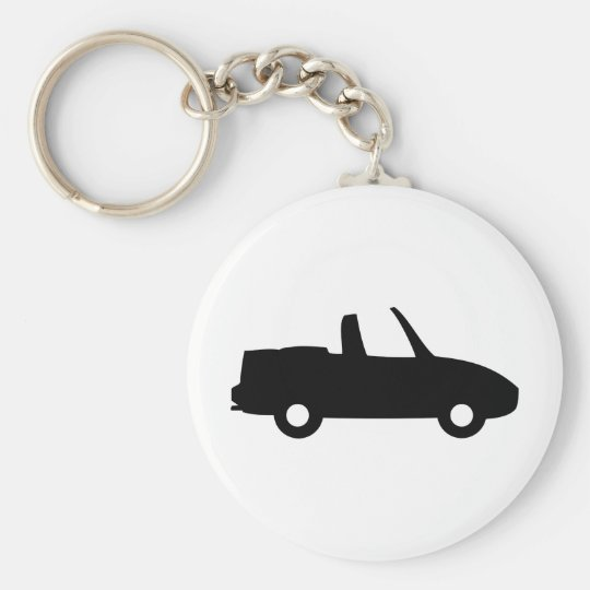 black 5.0 convertible icon basic round button key ring